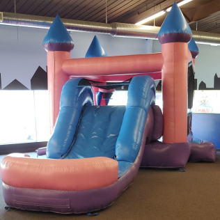 3-in-1 Pink Castle w/ Slide - $279